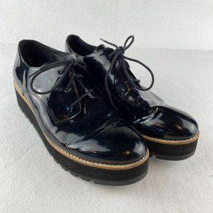 Eileen Fisher Eddy Patent Oxford Shoes 6.5